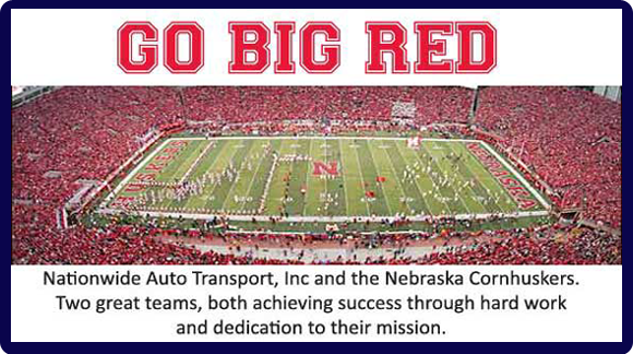 Nationwide Auto Transport, Inc & Nebraska Cornhuskers